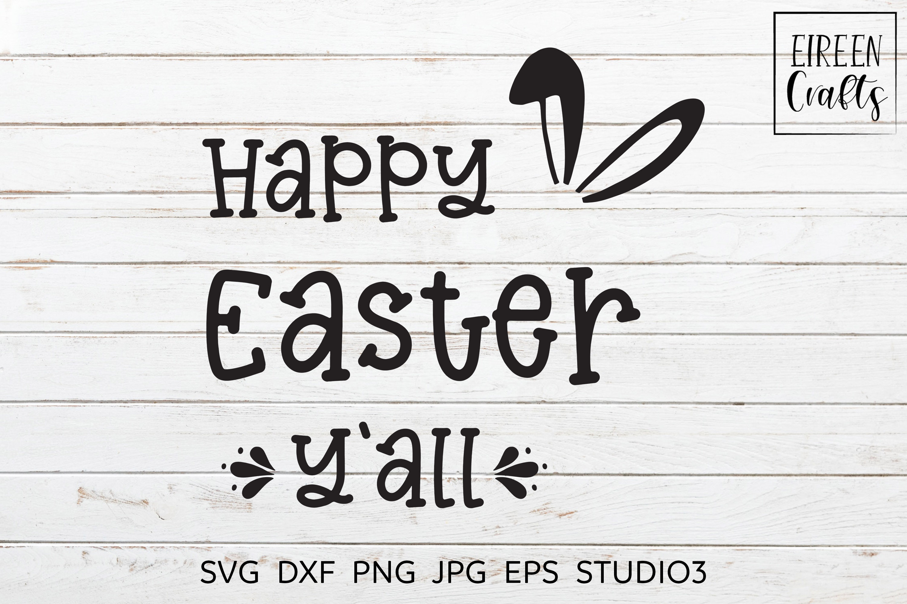 Happy Easter Y'all SVG - cut file for Cricut & Silhouette example image 3