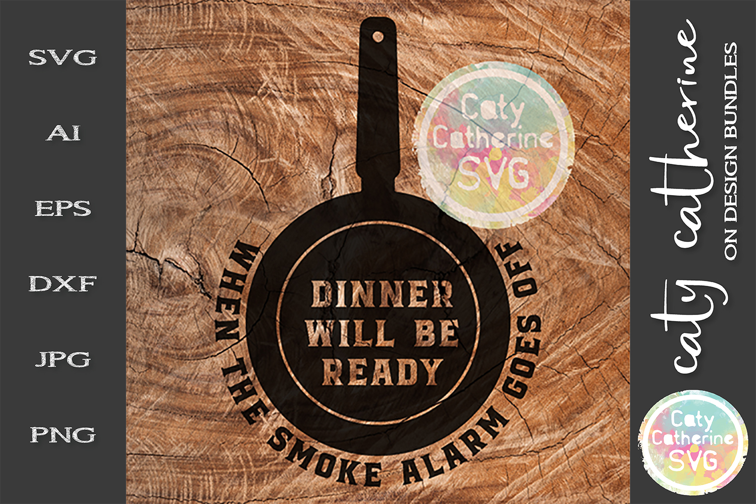 Dinner Is Ready When The Smoke Alarm Goes Off SVG Cut File example image 1