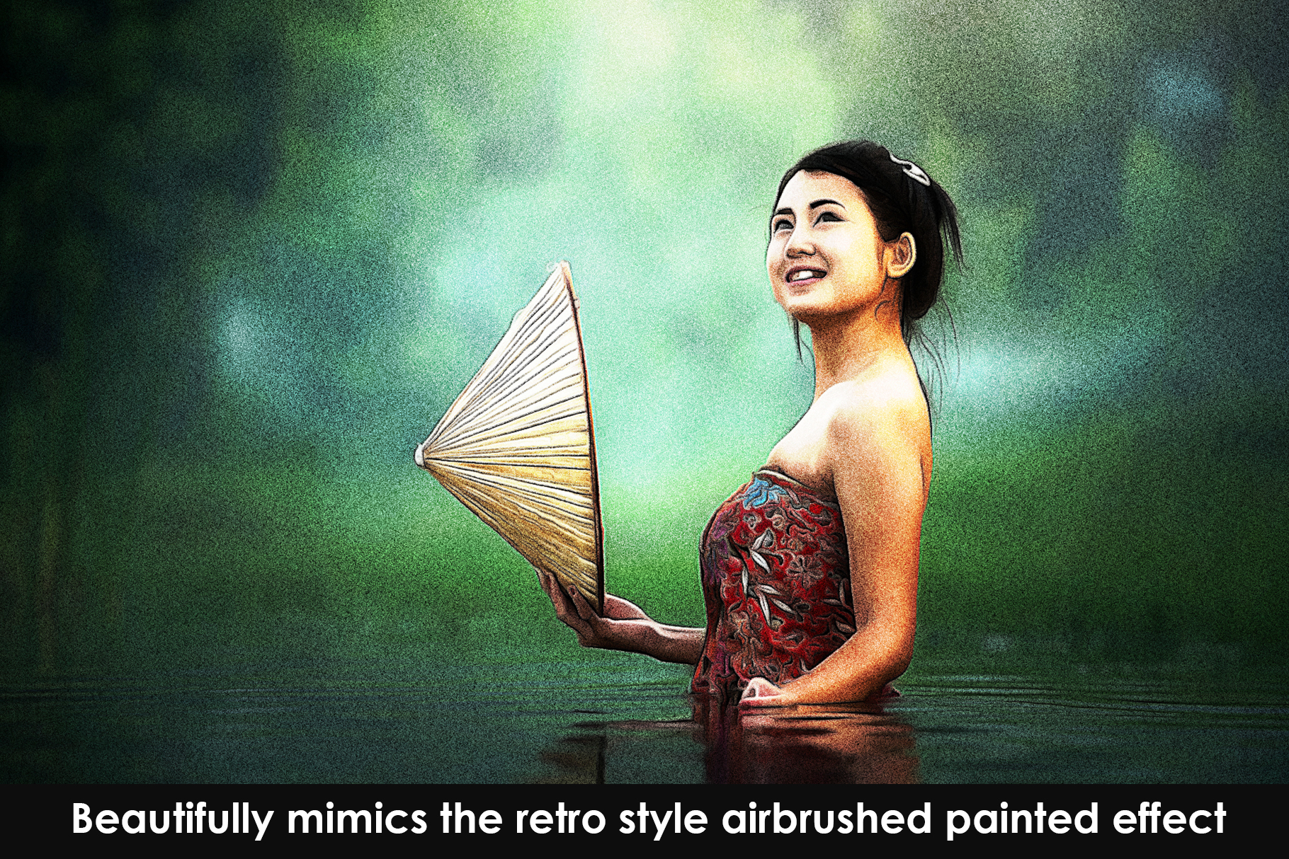 Airbrush Poster Photoshop Action example image 2