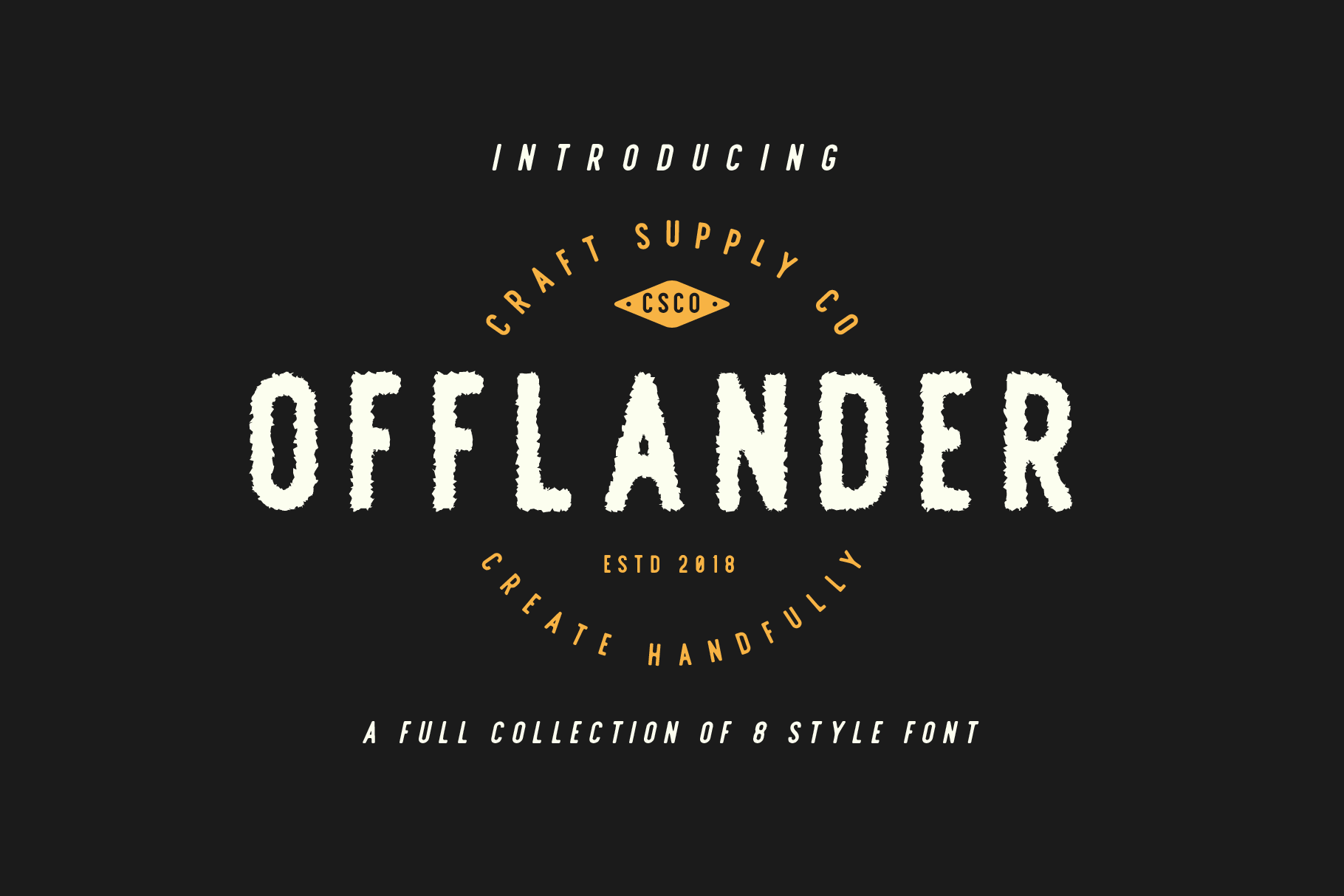 Offlander - Font Family example image 4