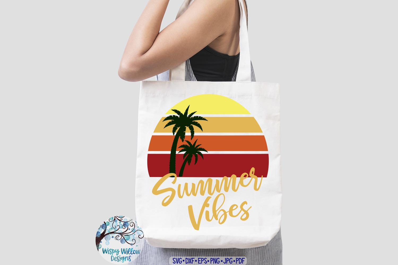 Summer Vibes SVG | Summer SVG | Beach Sunset SVG Cut File example image 3