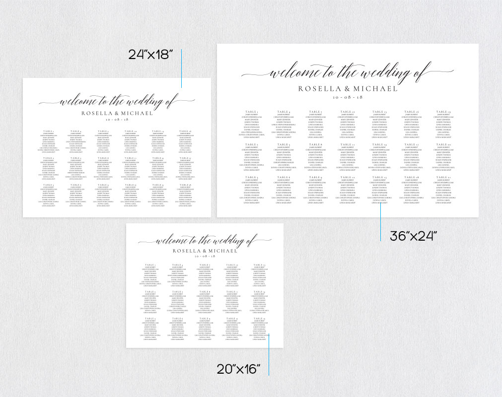 wedding seating chart sign landscape, TOS_15 example image 2