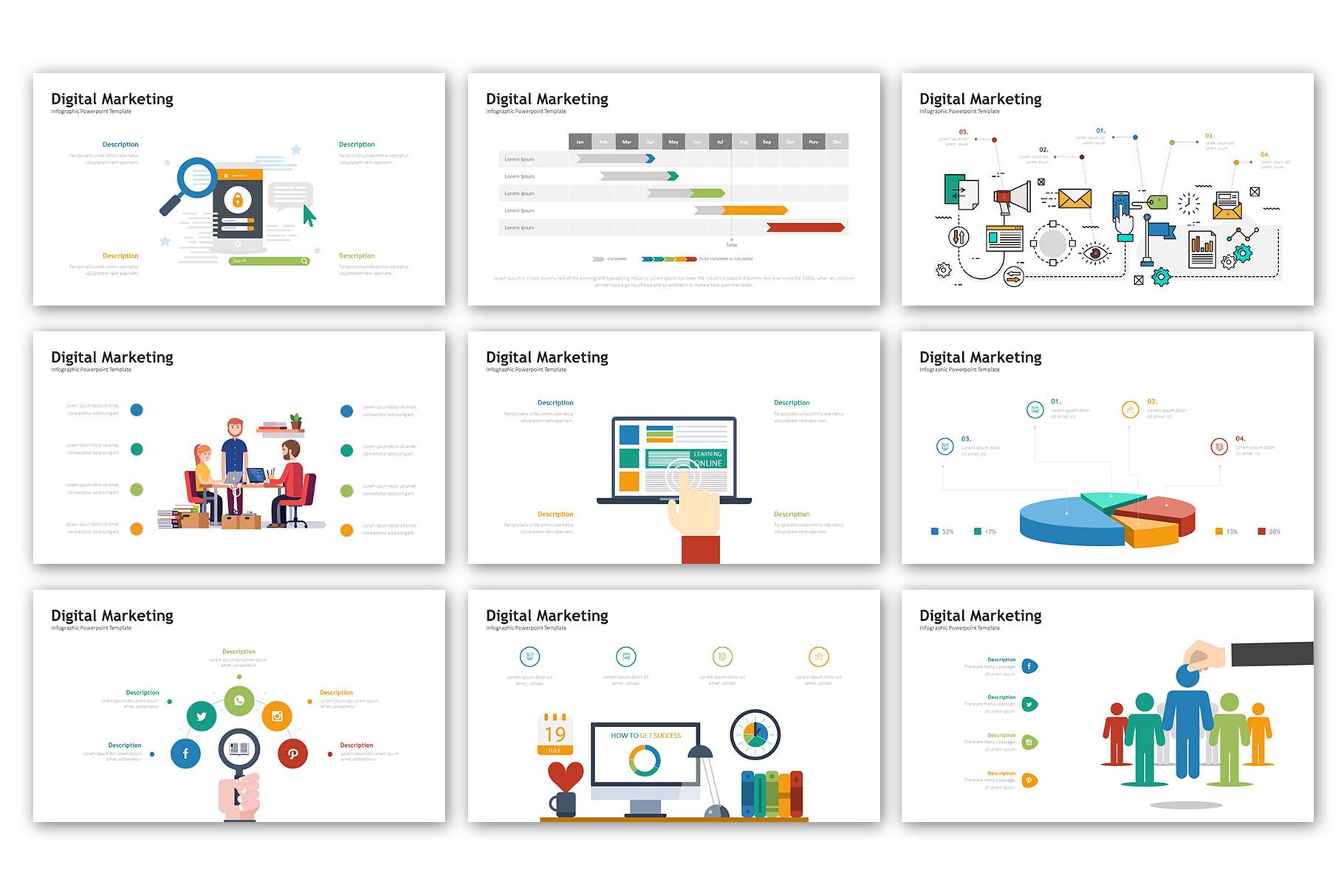 Digital Marketing Presentation - Infographic Template example image 4