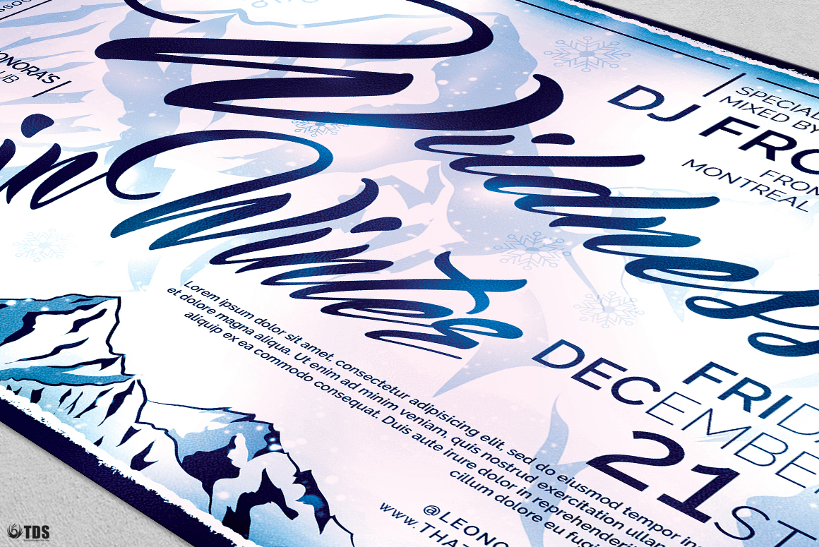 Wildness in Winter Flyer Template example image 2