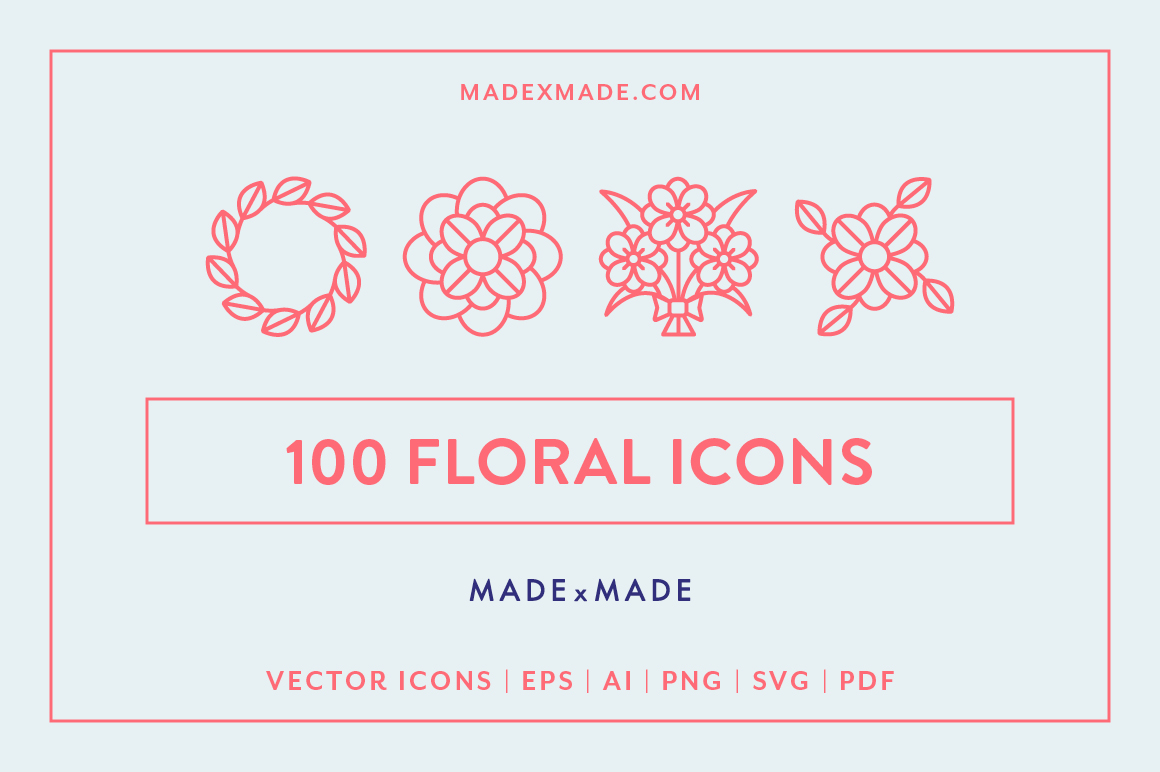 Line Icons  Floral example image 1