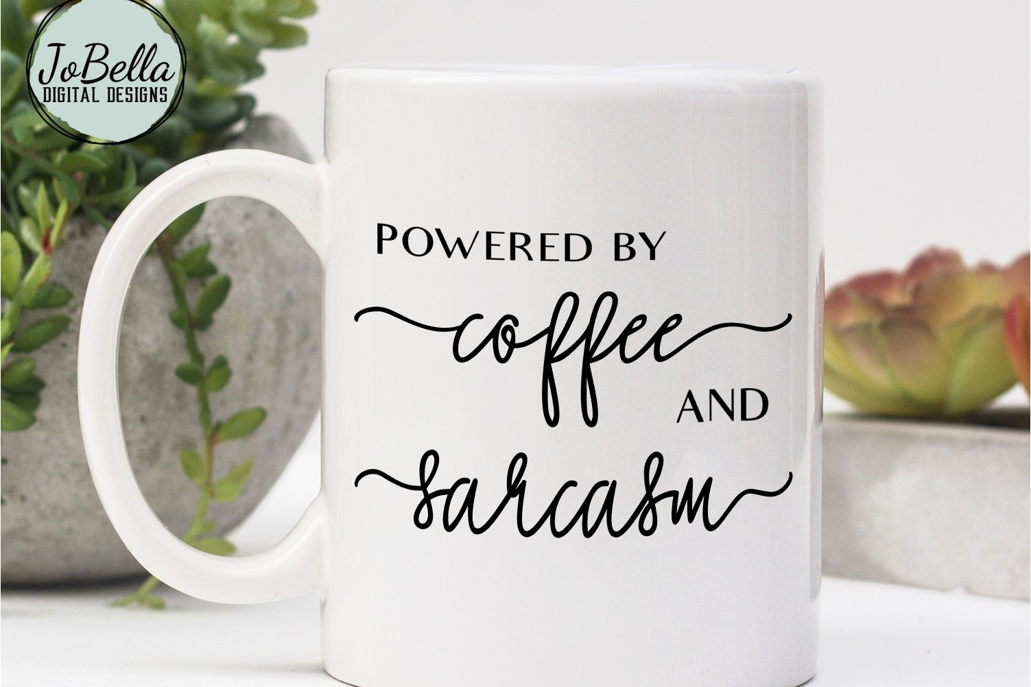 Powered by Coffee and Sarcasm SVG and Printable example image 2