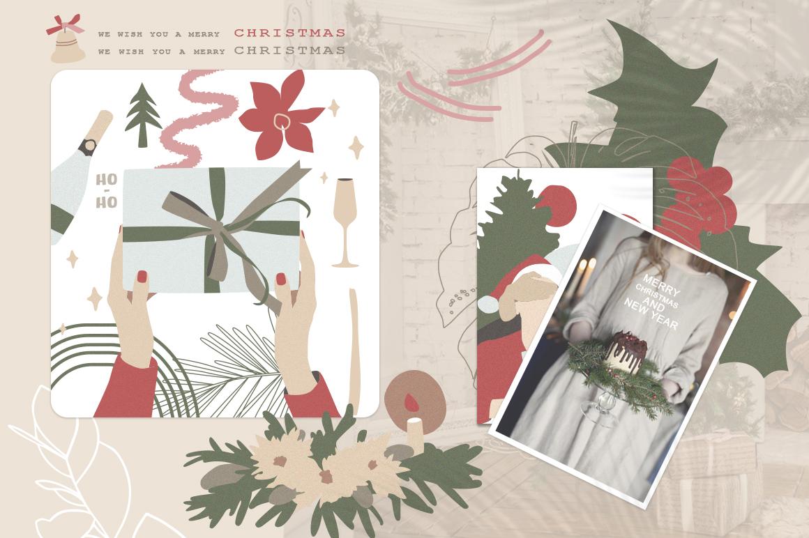 Christmas Secret Modern Graphic Set example image 13