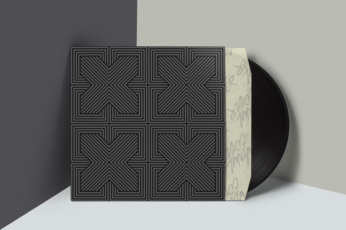 Dark striped geometric patterns example image 3