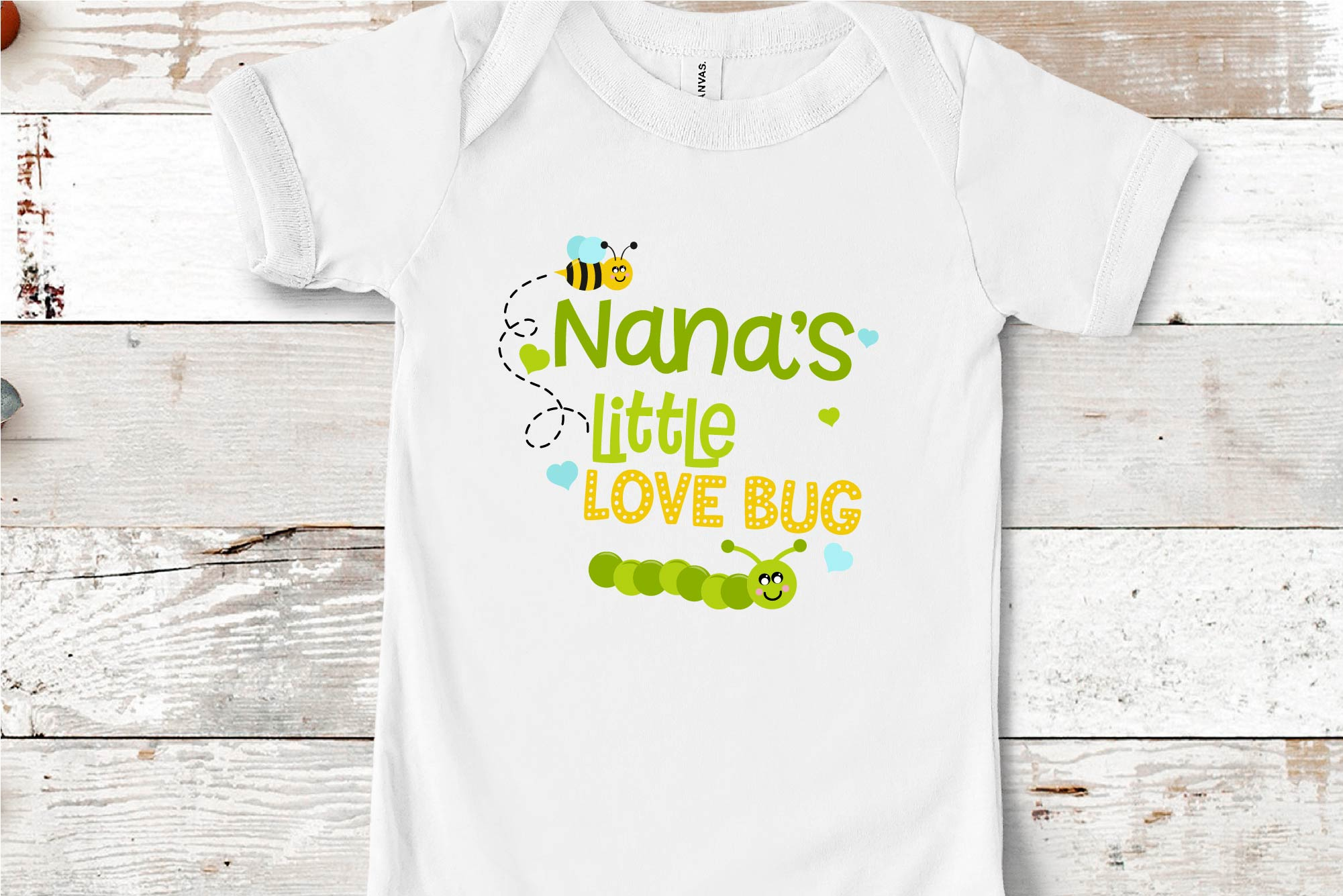 Valentine's Day SVG Little Love Bug, Nana's Love Bug SVG example image 1