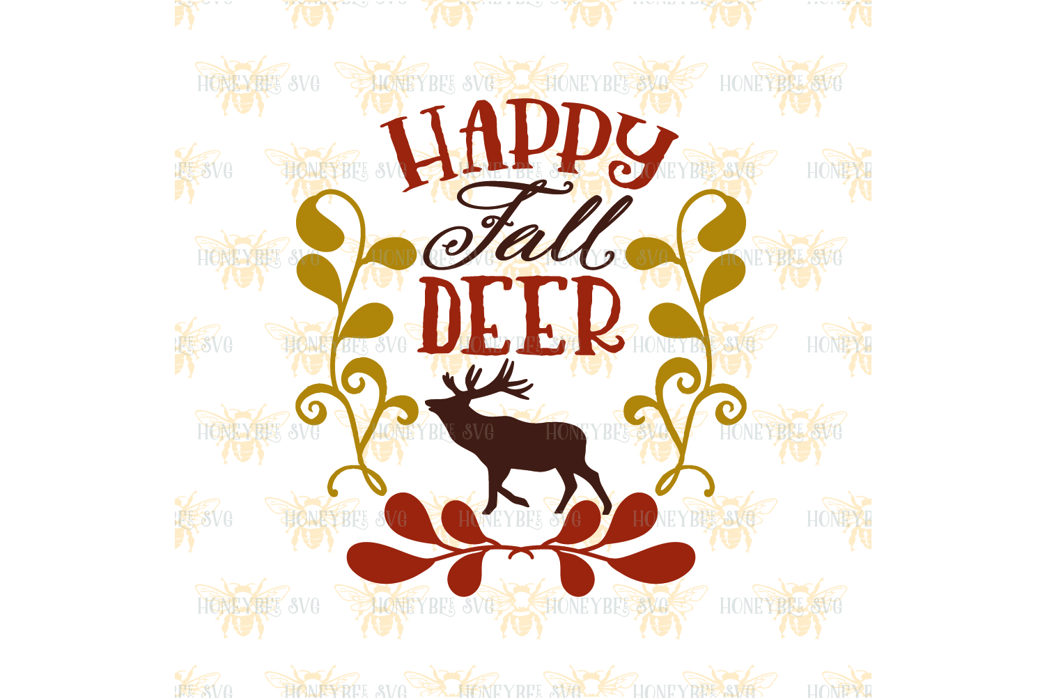 Happy Fall Deer svg example image 2