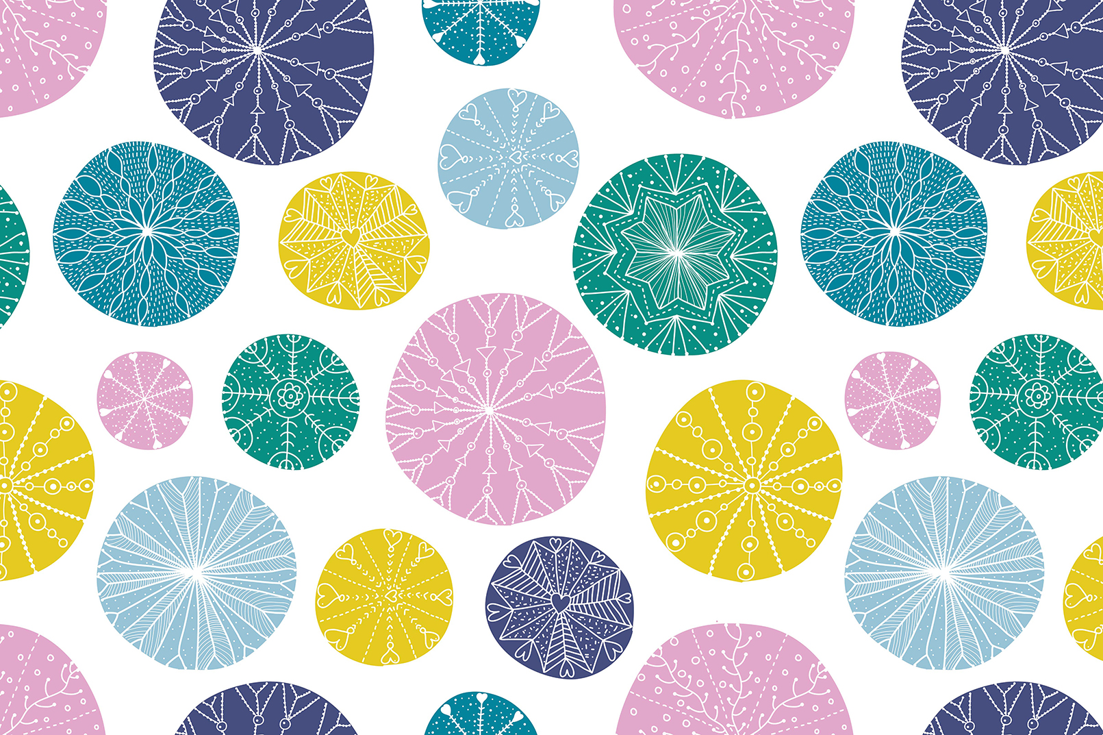 Snowflakes.Winter pattern. example image 4