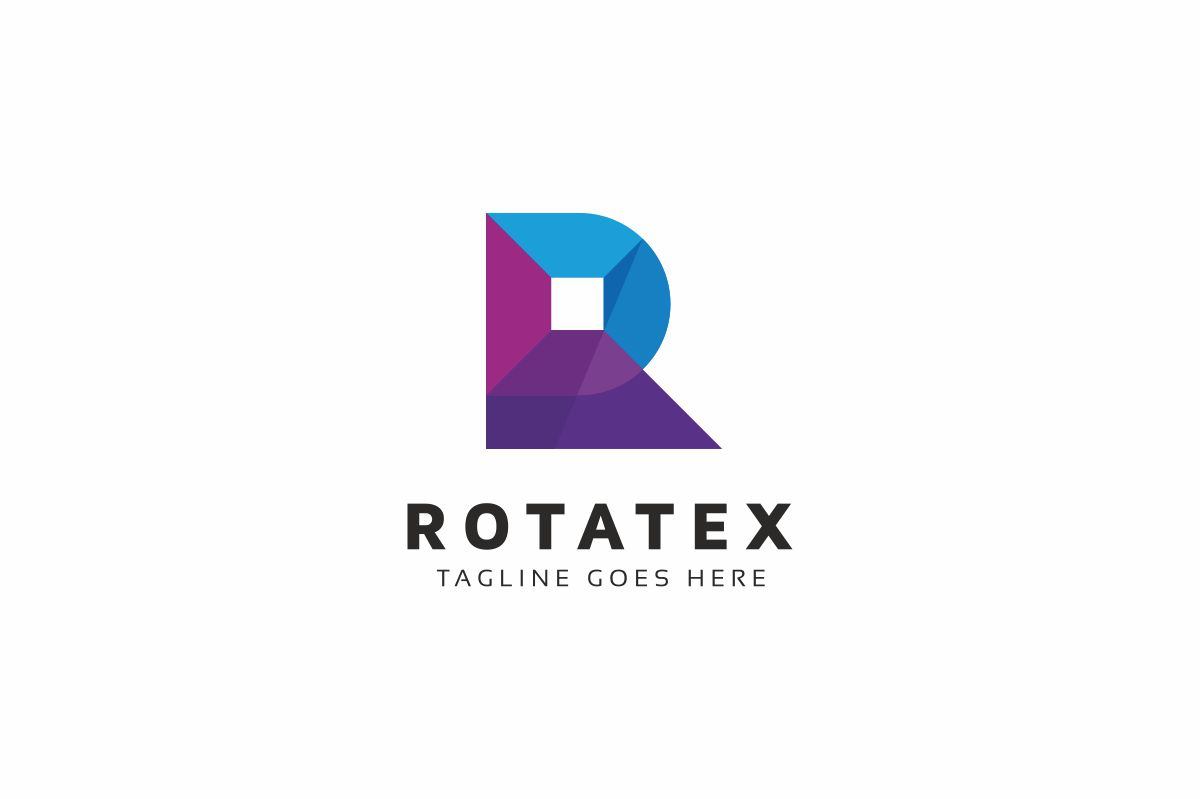Rotatex R Letter Logo example image 1