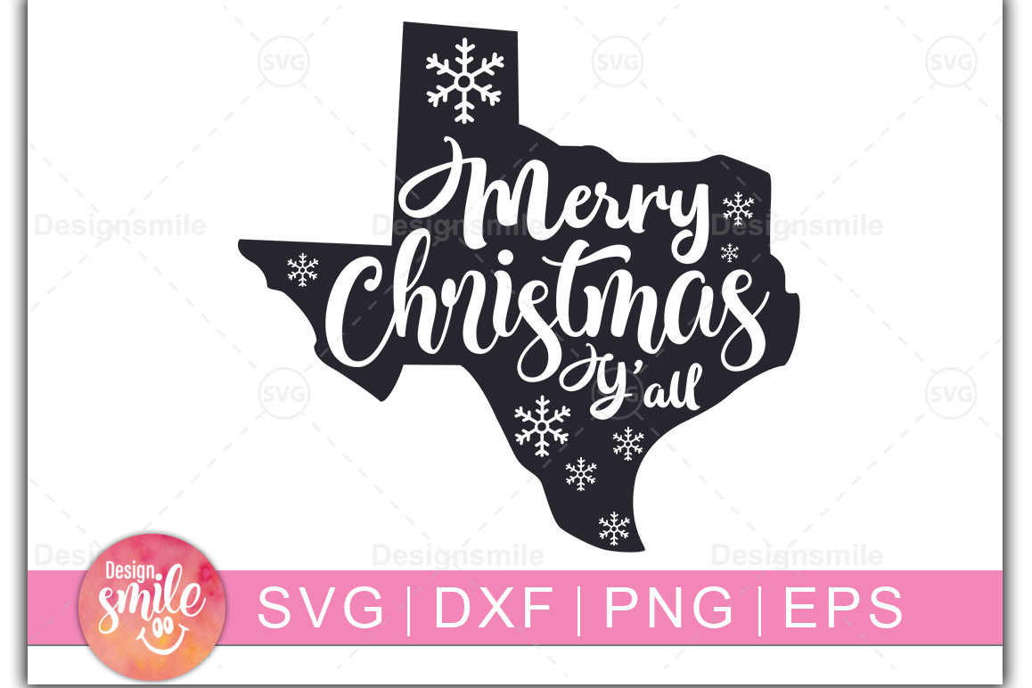 Merry Christmas Y'all SVG   Christmas svg example image 1