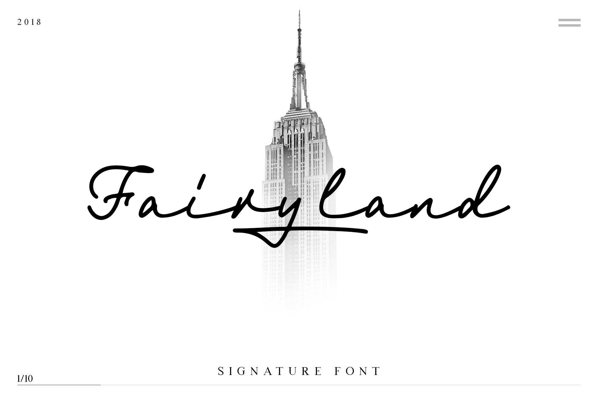 Fairyland - Classy Signature Font example image 1