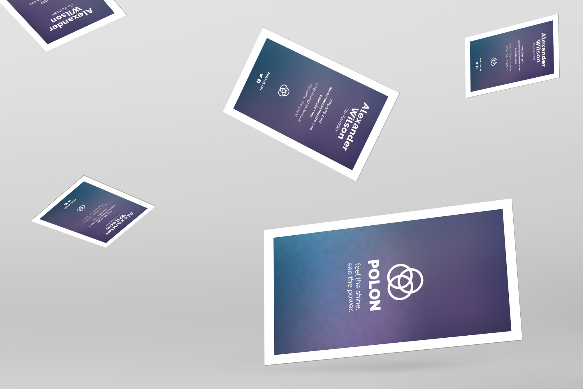Polon - A Modern Business Card Template example image 2