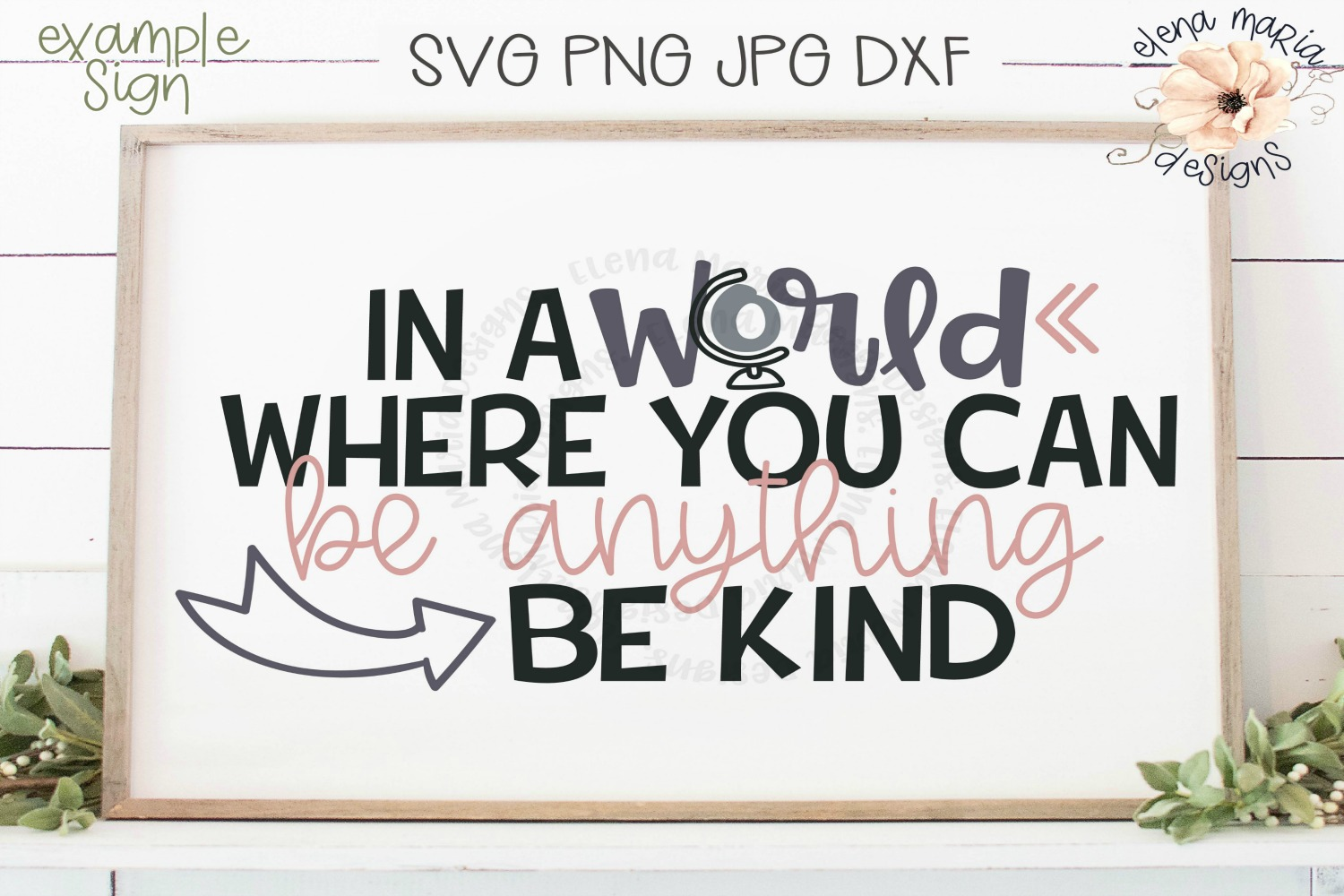 Anti-Bullying   Be Kind Svg File and Cut File For Crafting example image 1