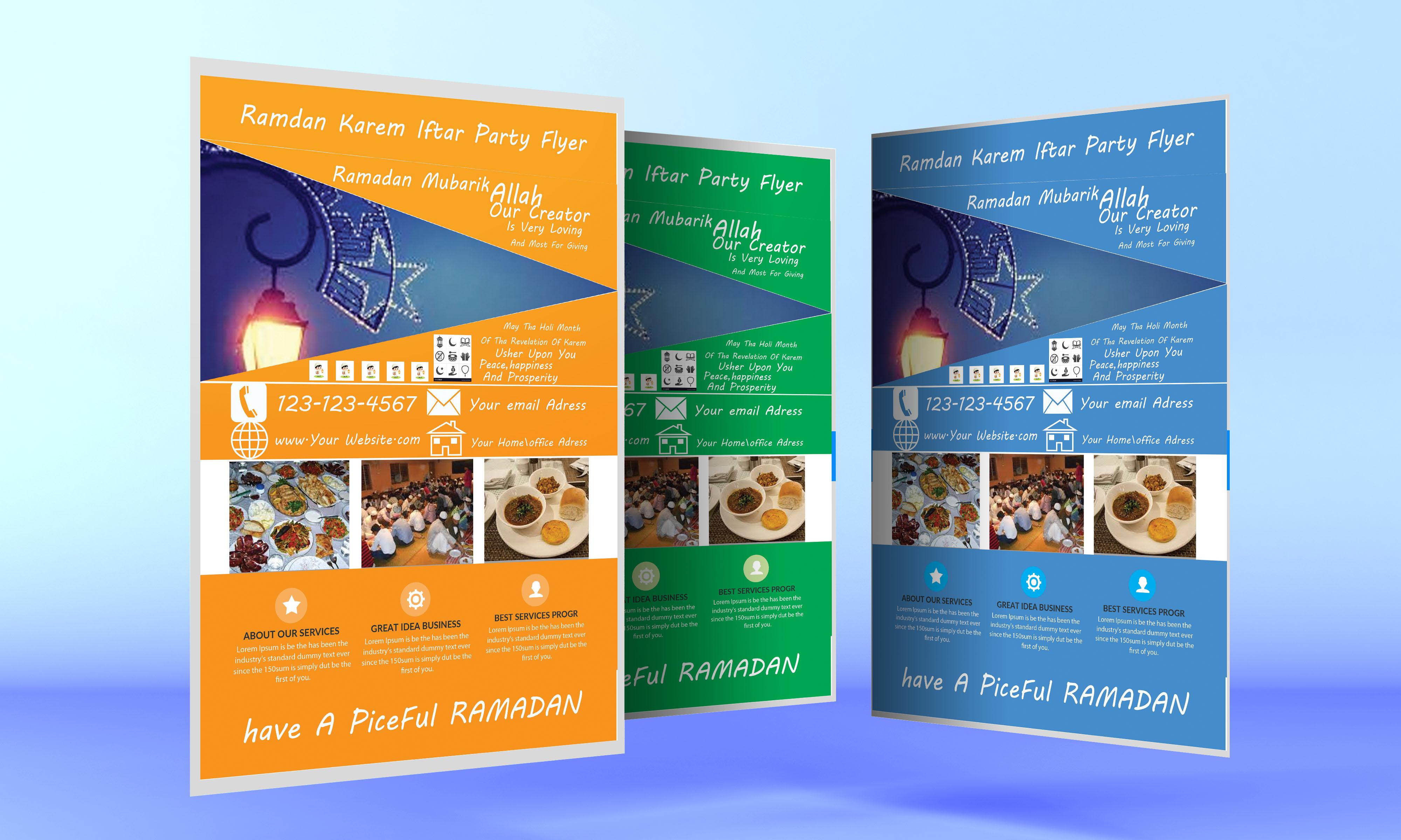Ramadan kareem Iftar Party  Flyer example image 2