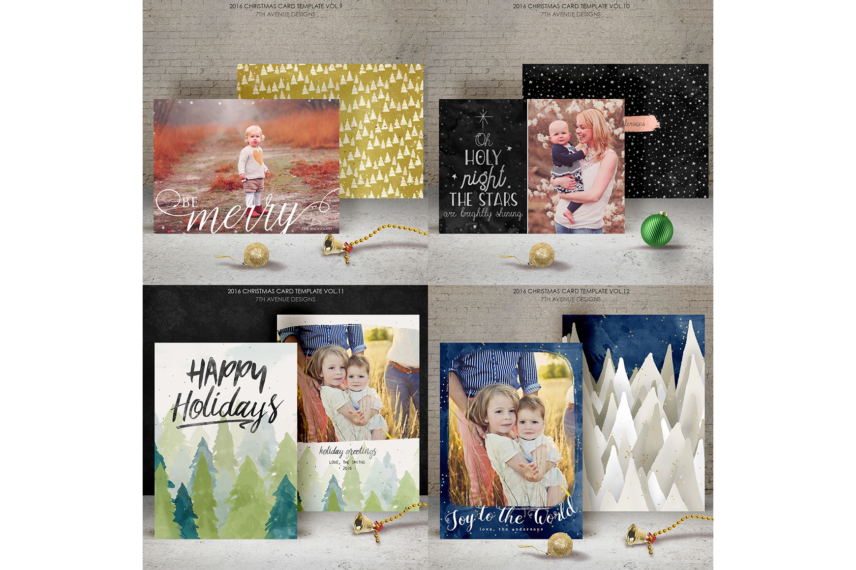 Christmas Cards Templates Collection example image 4