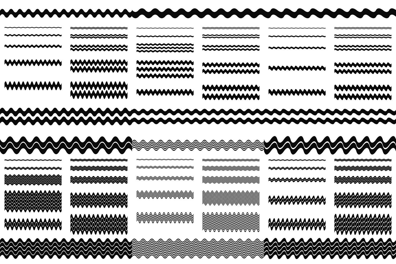 72 wave line dividers - separators in 6 styles