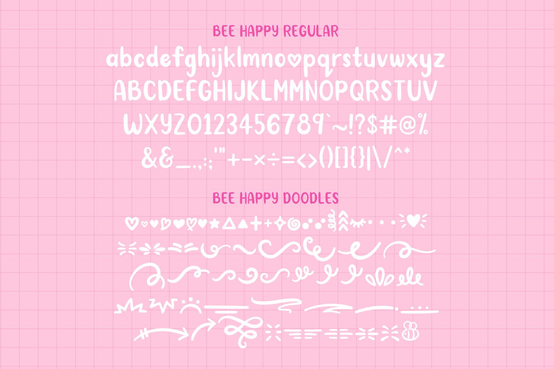 BeeHappy Font Duo example image 8