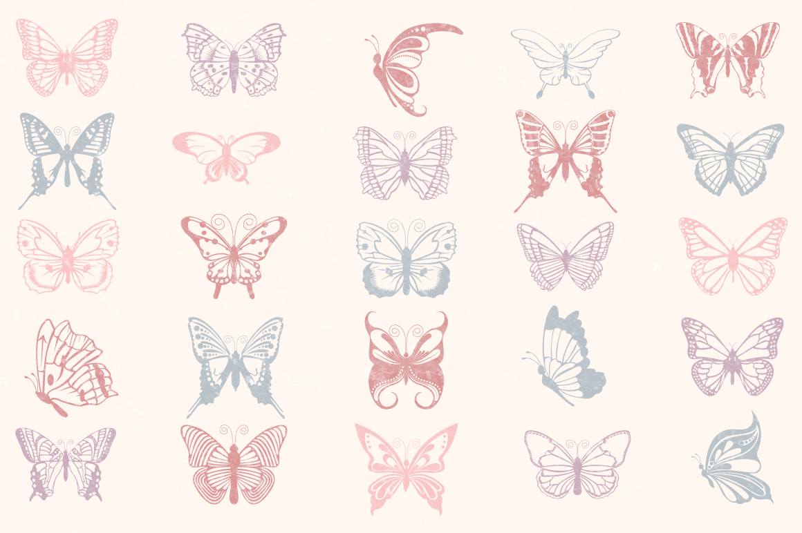 Butterfly SVG, Butterfly Monogram SVG Cut Files Bundle example image 4