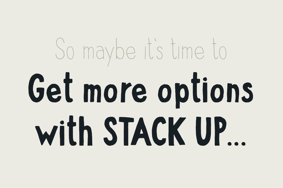 Stack up - The universal font family example image 7