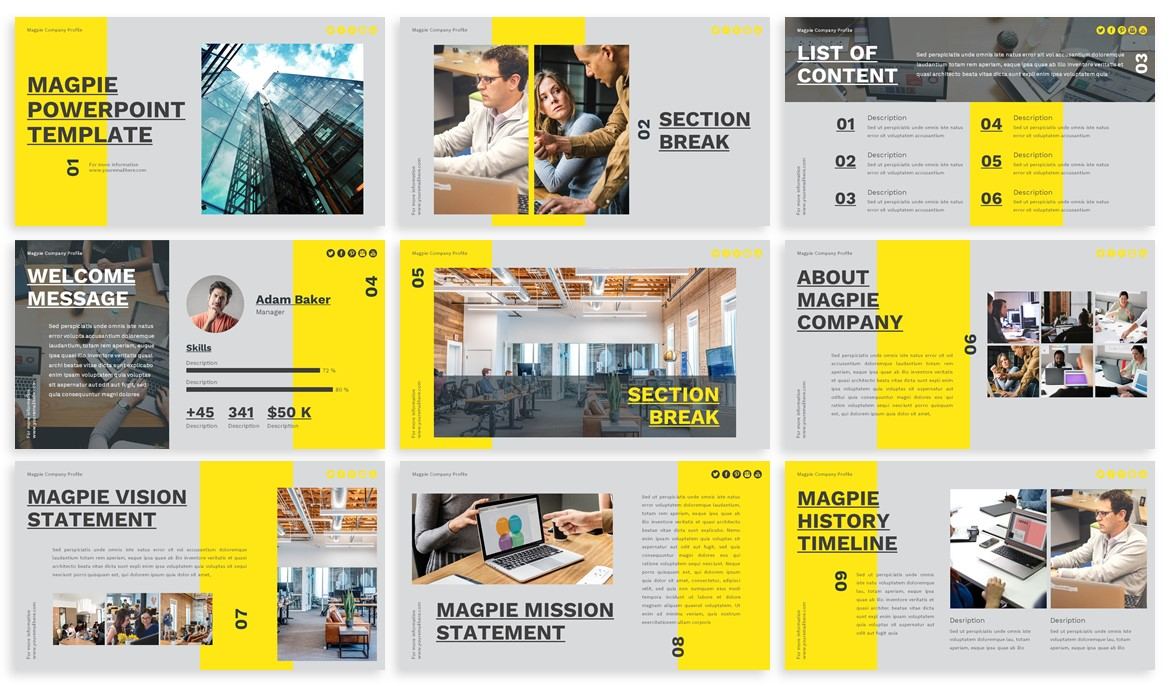 Magpie - Creative Powerpoint Template example image 2