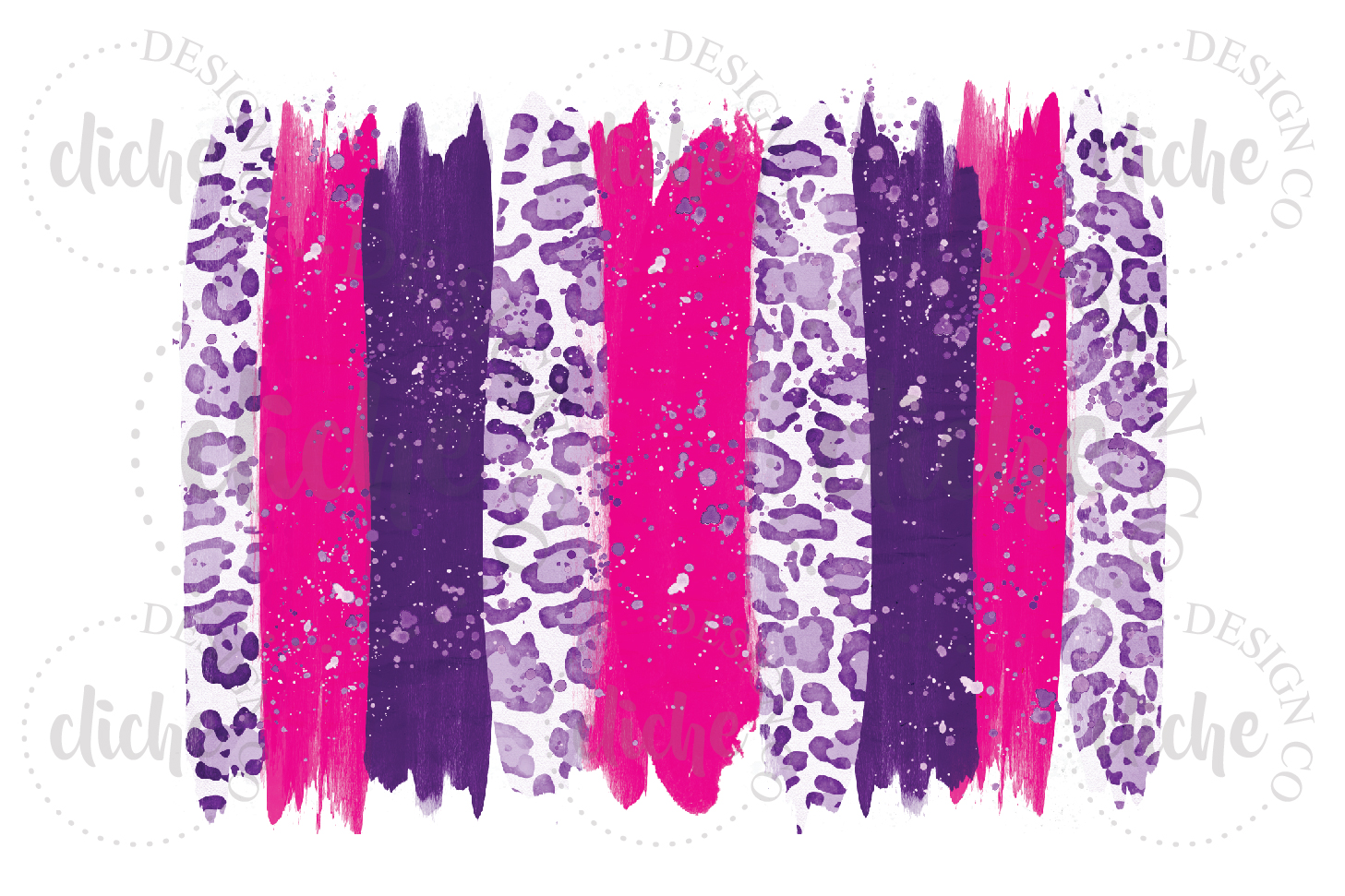 Purple Pink Paint Stroke Sublimation Design Background example image 1