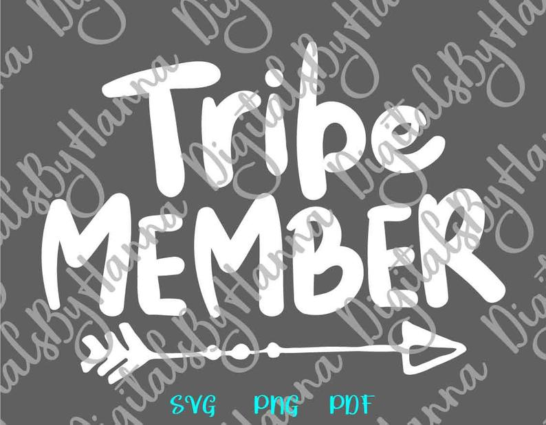 Tribe Member Sign With Tribal Arrow Print & Cut PNG SVG File example image 6