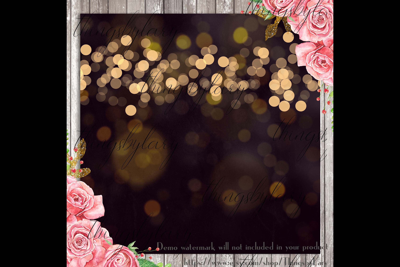 18 Luxury Bokeh Background Digital Images Gold Bokeh Heart example image 3