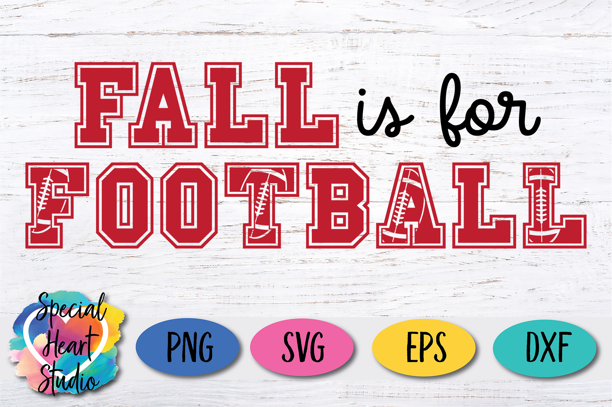 Fall is for Football - A football SVG Cut File example image 2