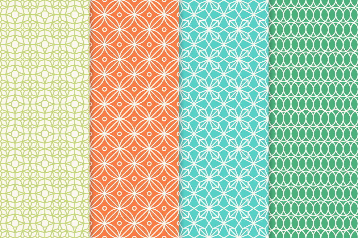 Mono Line Frames and Patterns - Set 3 example image 2