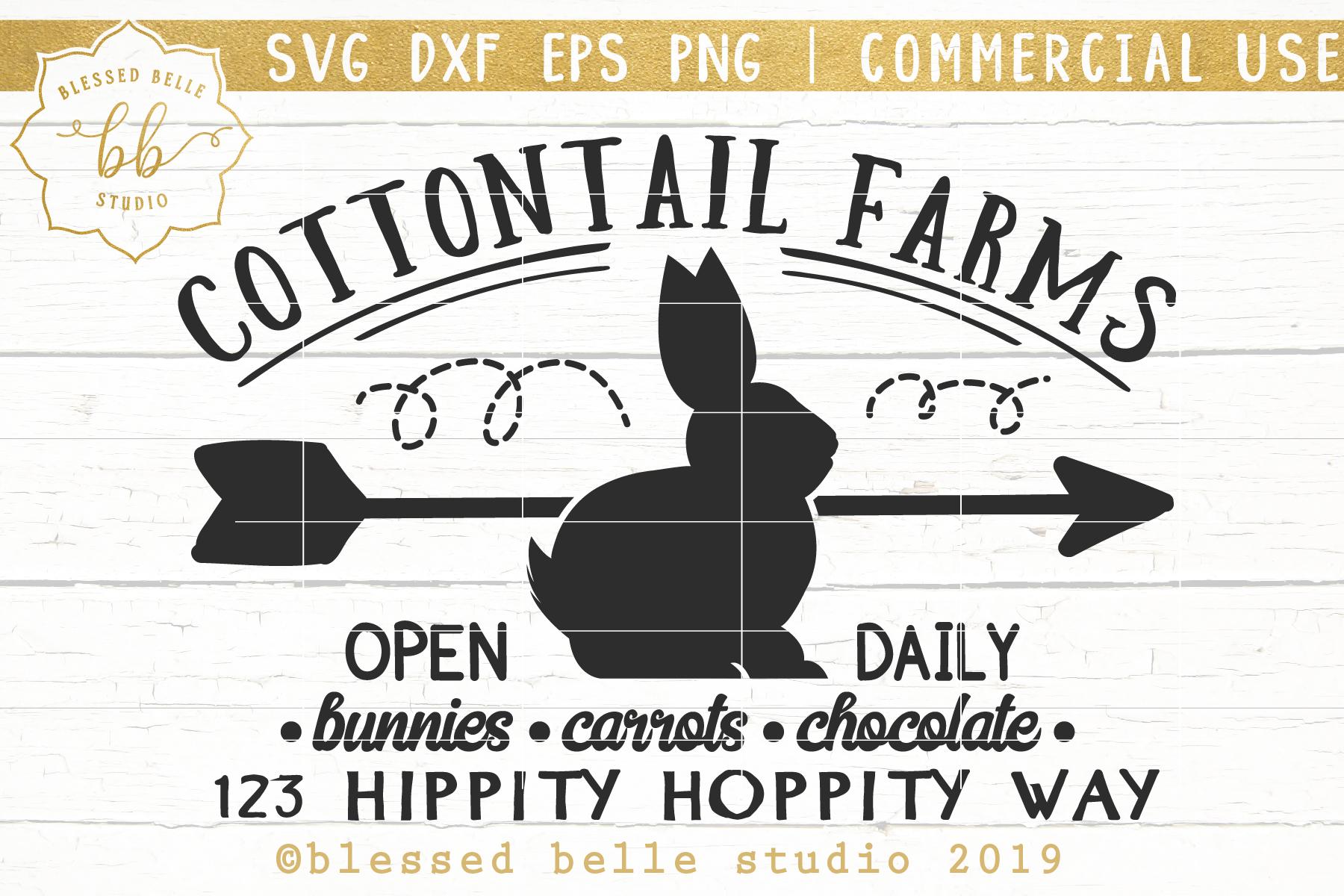Farmhouse Easter Sign SVG / Easter SVG / SVG DXF EPS PNG example image 1