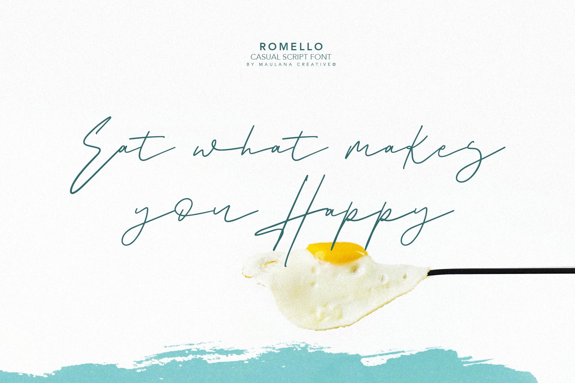 Romello Brush Signature Font example image 6