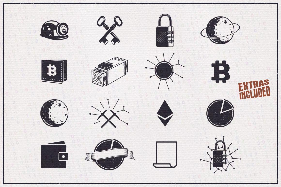 Bitcoin & Blockchain Vintage Emblems / SVG / EPS Files example image 5