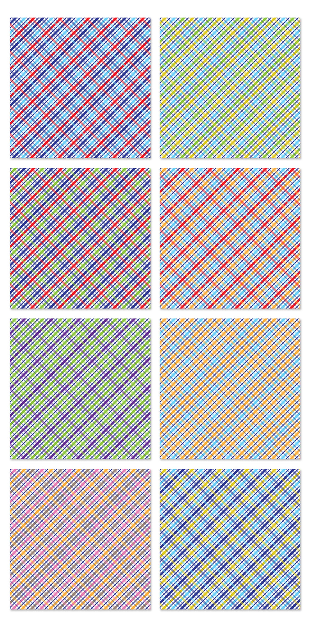 Plaid Digital Paper Pack / Backgrounds / Scrapbooking / Patterns / Printables / Card Making example image 3