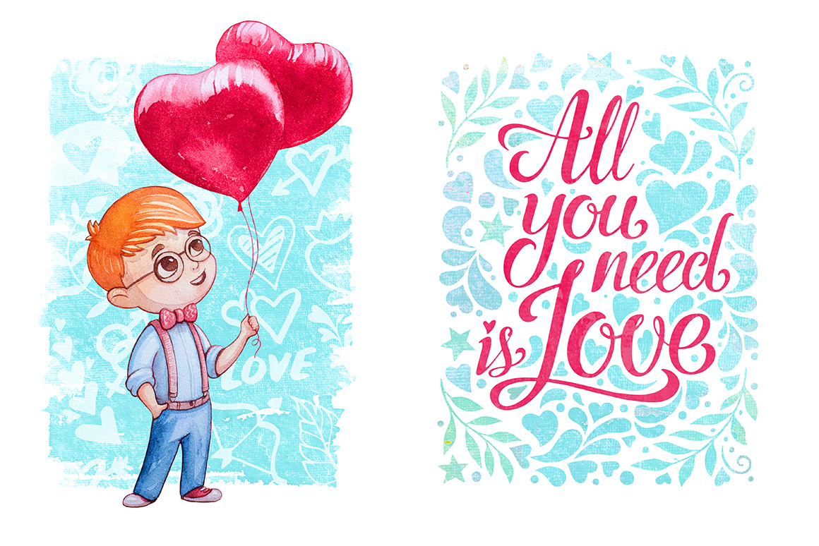 Hugs & Kisses in the Valentines day! example image 6