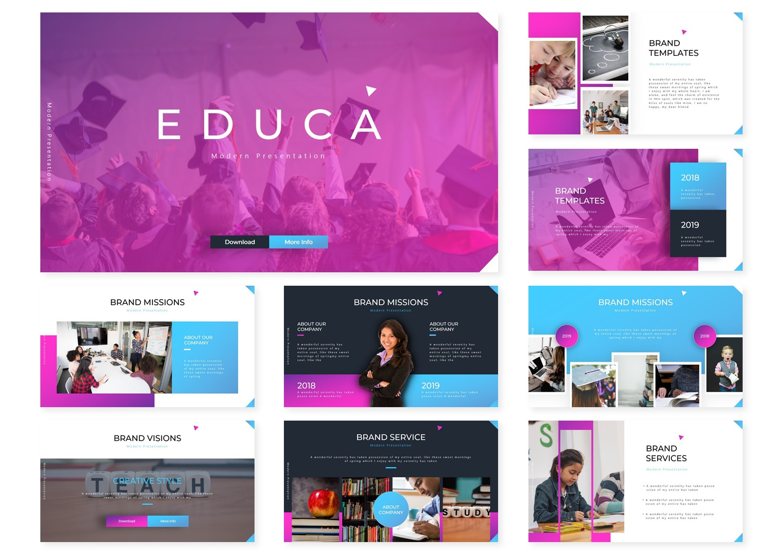 Educa | Powerpoint, Keynote, GoogleSlides Template example image 4
