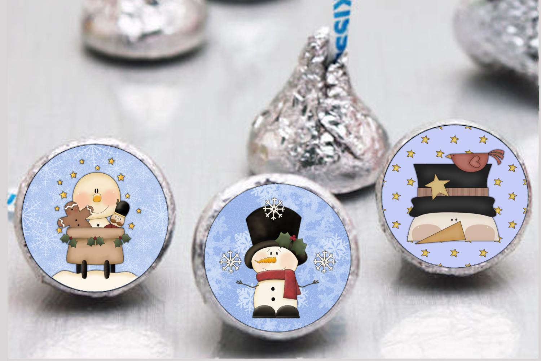 Primsy Snowmen Bottlecap Images, Labels example image 2
