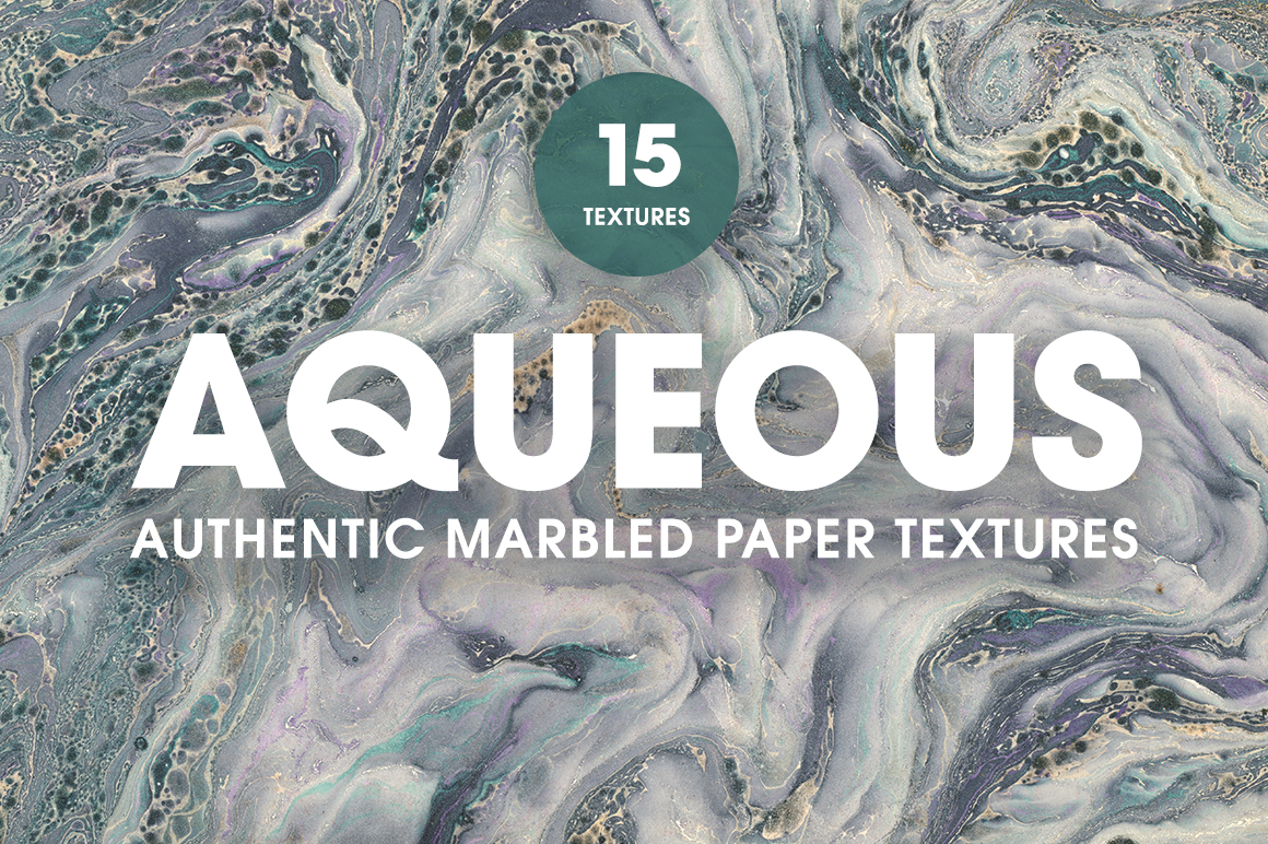 15 Authentic Marbled Paper Textures example image 1