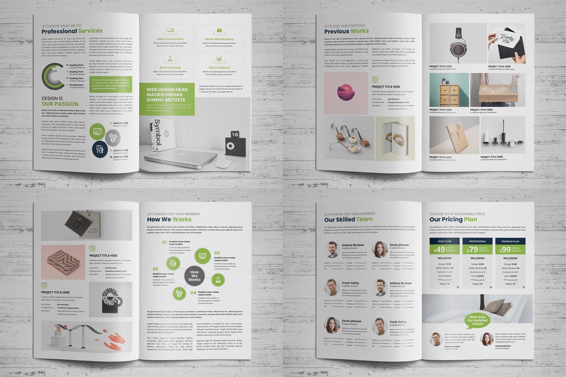 Portfolio Bifold Brochure Design v1 example image 14