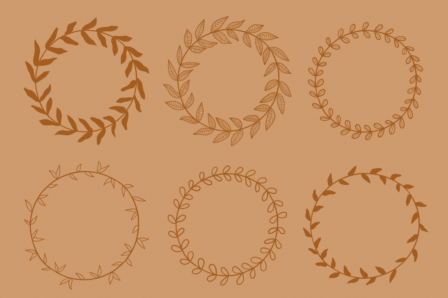 Floral Vector Elements Volume 002 example image 12