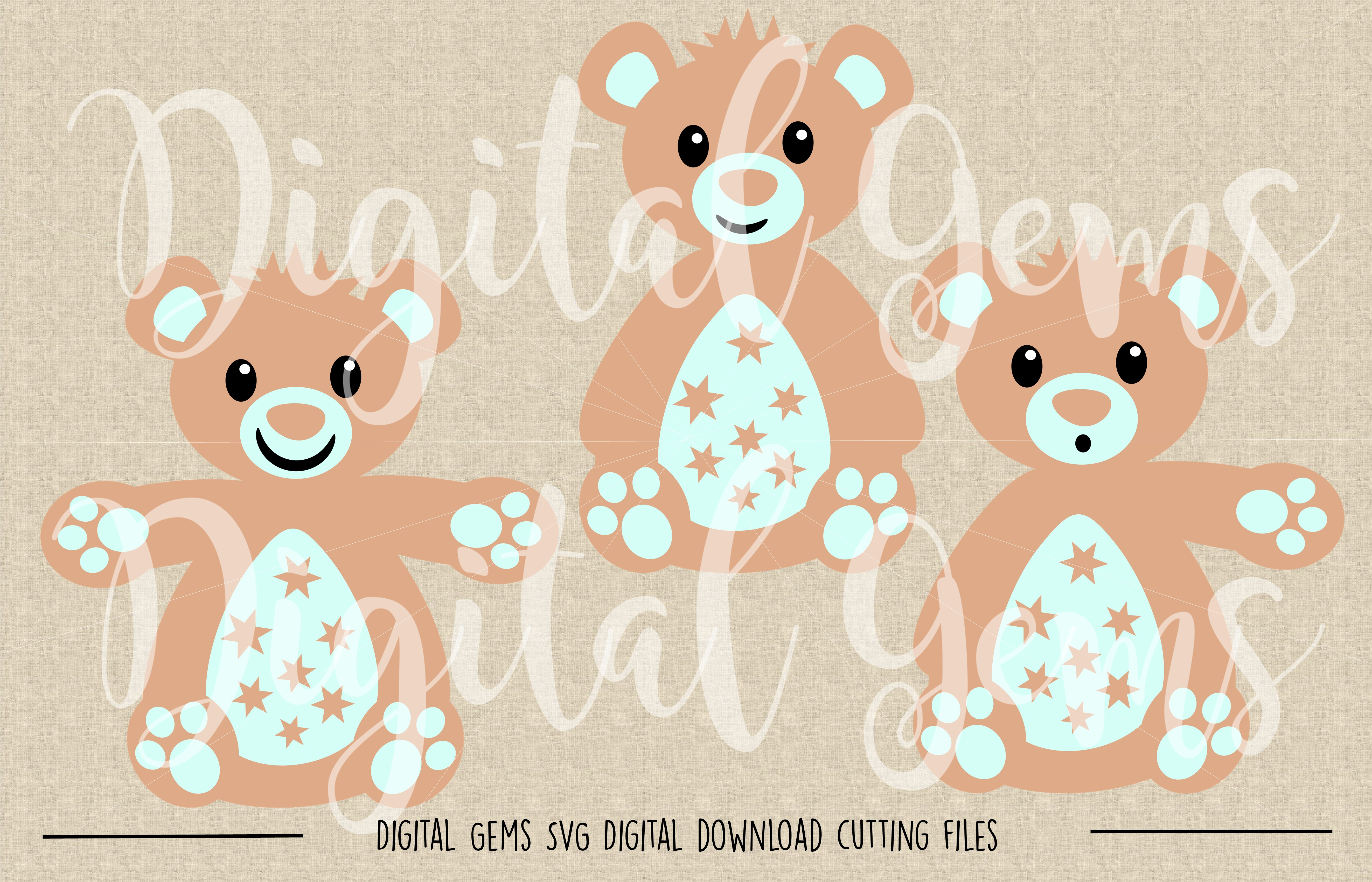 Teddy Bear SVG / PNG Files example image 2