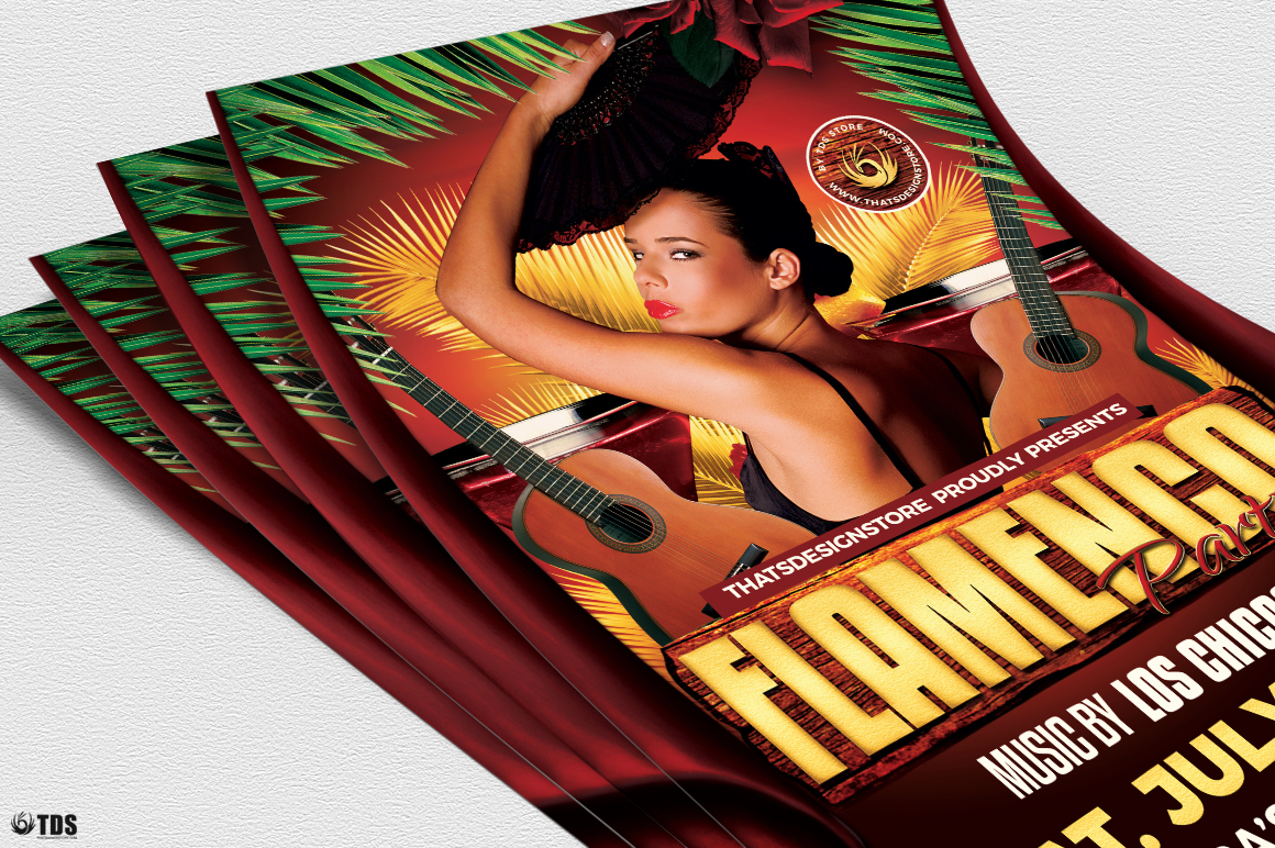 Flamenco Party Flyer Template example image 5