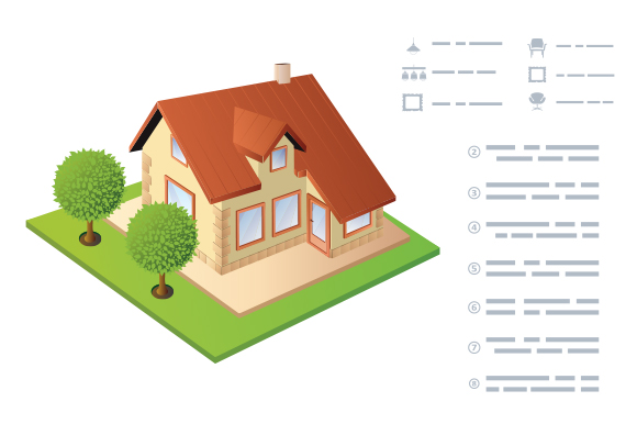 Isometric vector House example image 1