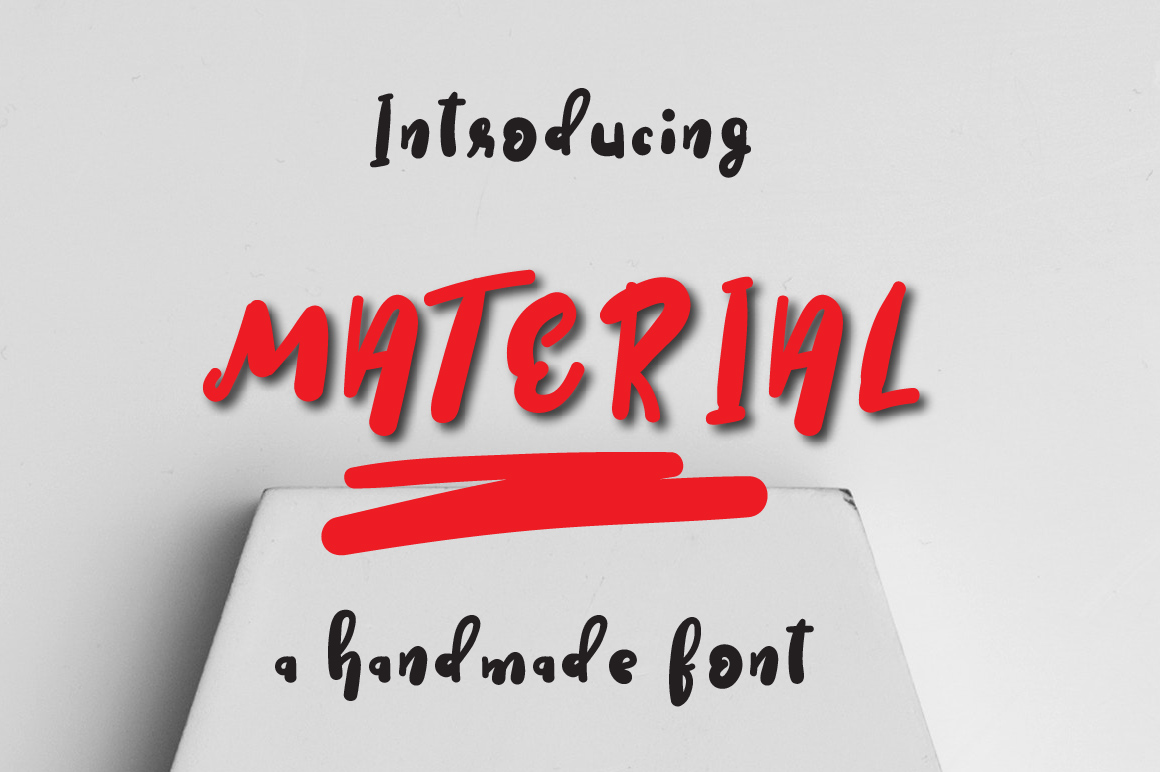 Material Typeface example image 1