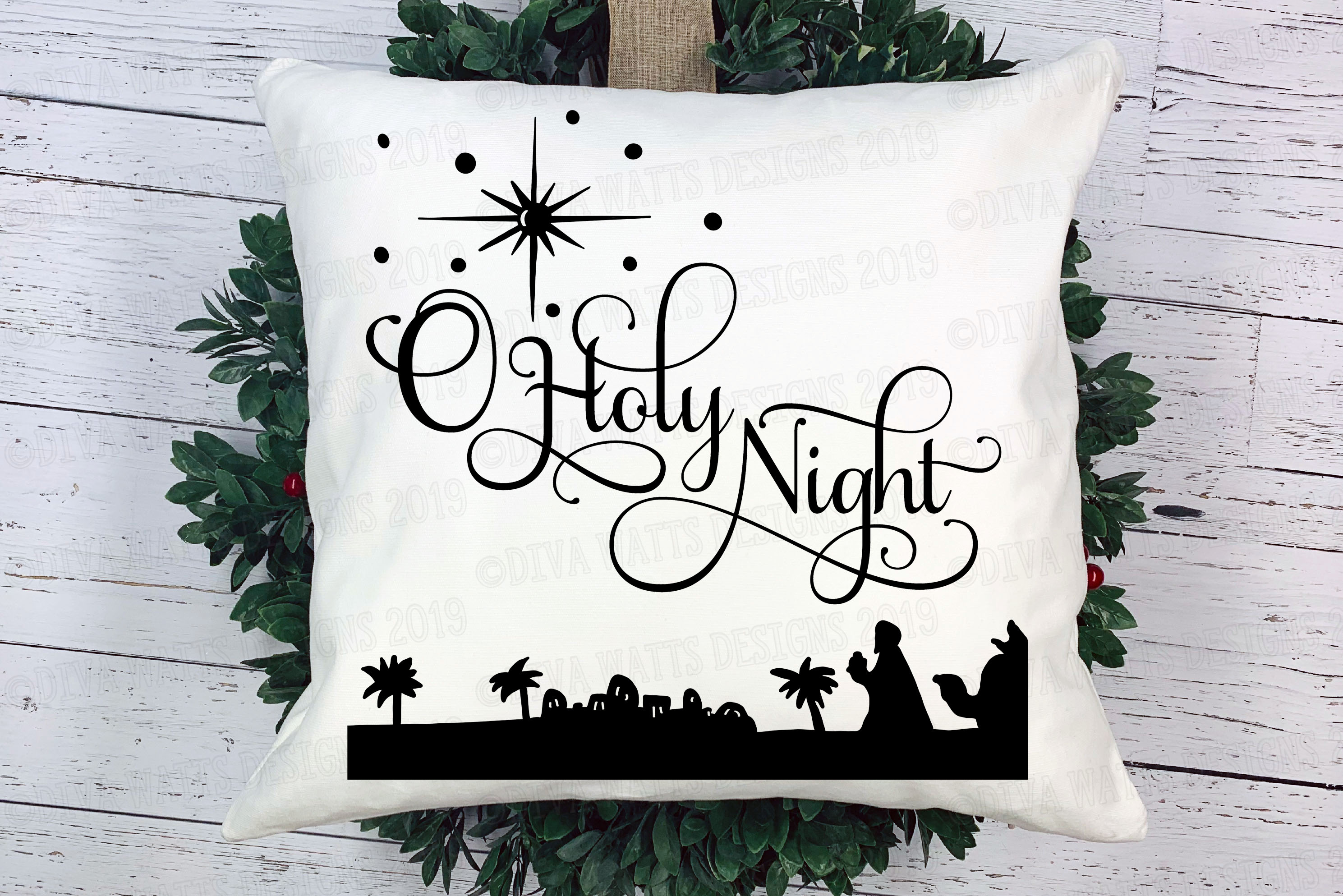 O Holy Night Christmas Cutting File example image 2