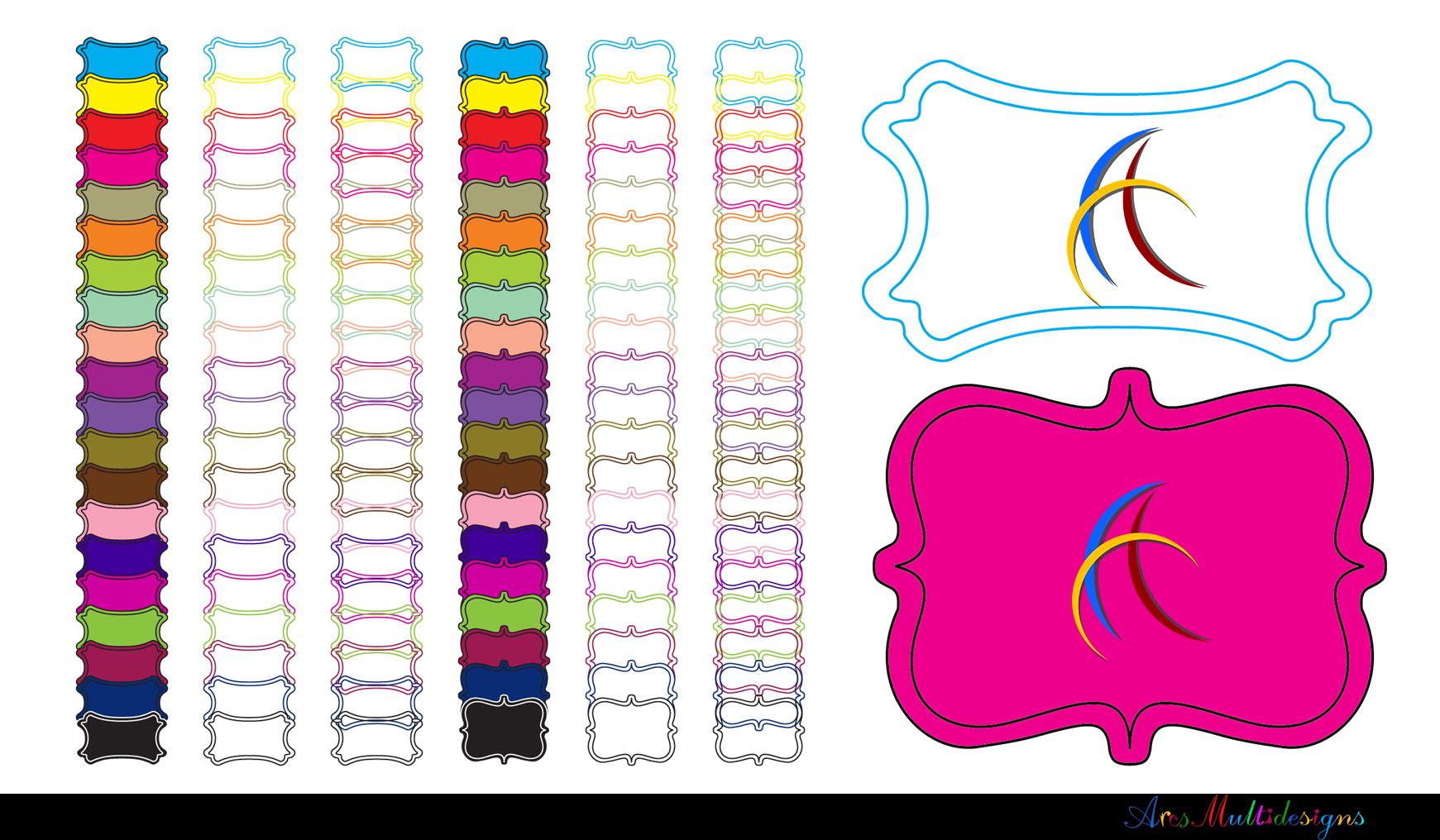 Label clipart bundle / digital label clipart bundle / frames bundle / high quality frames / digital frames clip art / label clipart example image 2