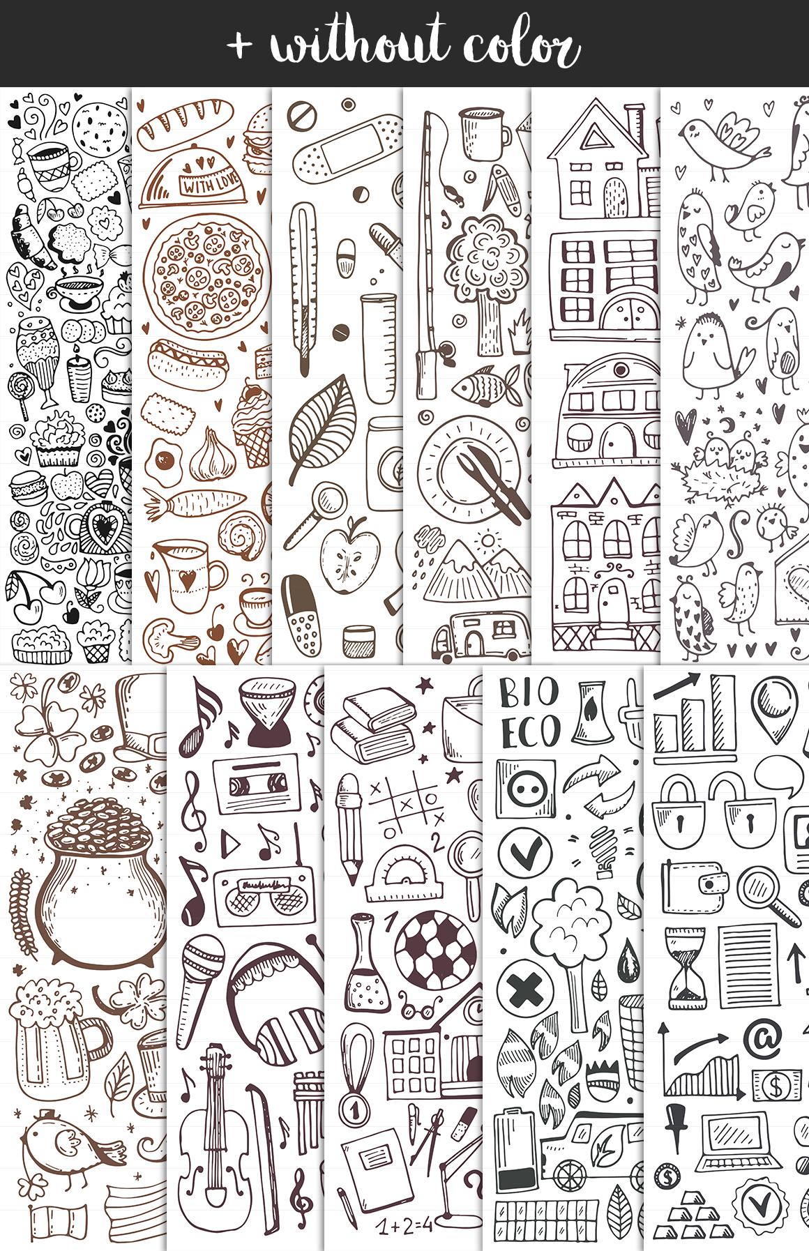 Vintage Doodles Bundle, Sketch Icons example image 4