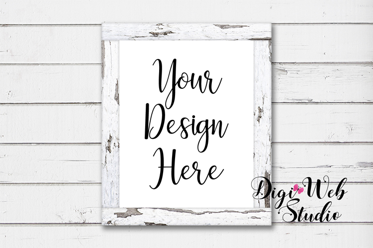Mockup Bundle -White Rustic Shiplap Wood Signs, Pillow & Mug example image 8